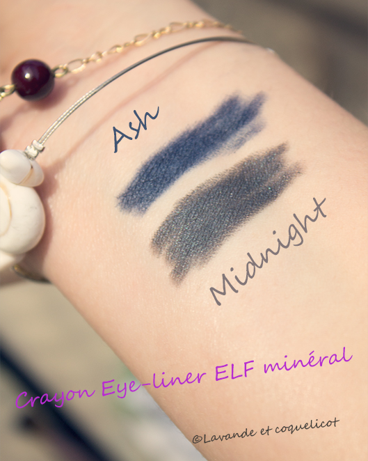 swatch eye liner ash midnight elf mineral