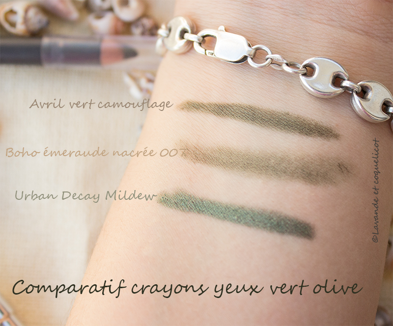comparatif crayon boho/avril/urban decay